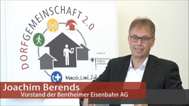 Bentheimer Eisenbahn entwickelt in Dorfgemeinschaft 2.0 mobilitätsbezogene Innovationen