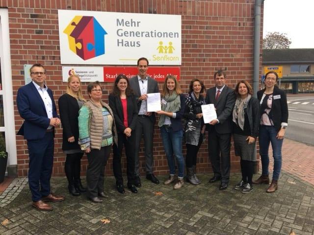 """Startschuss für Pilotprojekt """"präventive Hausbesuche"""" im Mehrgenerationenhaus Senfkorn in Emlichheim"""